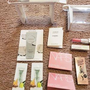 NARS Makeup - x14 Lip Gloss Blush Makeup Cosmetic Bag Bundle